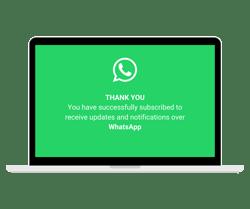 WhatsApp Opt In -vahvistus